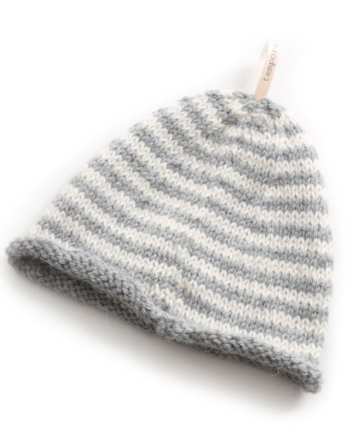Alpaca Baby Beanie Hat Grey Stripe in Temporary Measure Range 33b9558c8