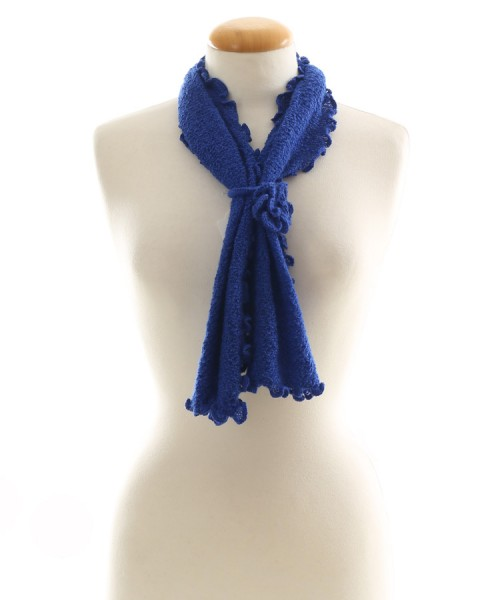 Alpaca Clothing Co Curly Edge Scarf Cobalt Blue