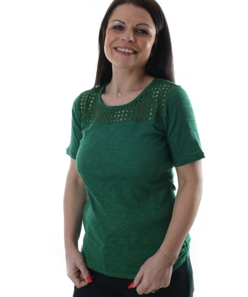 Brax Cira Cotton T-Shirt Green