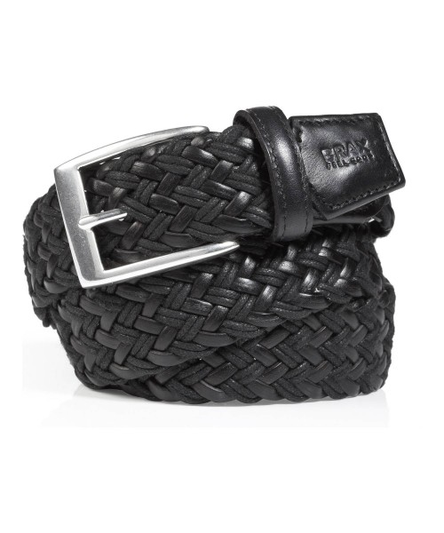 Brax Belt Webbed Leather Black