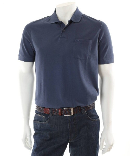 Brax Phil Denim Blue Polo T-Shirt