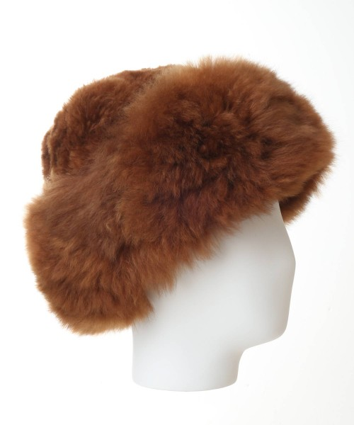 Alpaca Fur Hat Brown