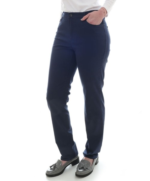 Brax Mary Sport Slim Leg Trousers Deep Blue