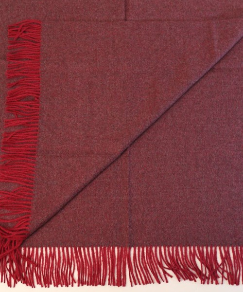 Baby Alpaca Throw Burgundy