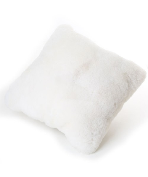 Alpaca Fur Cushion Cover White
