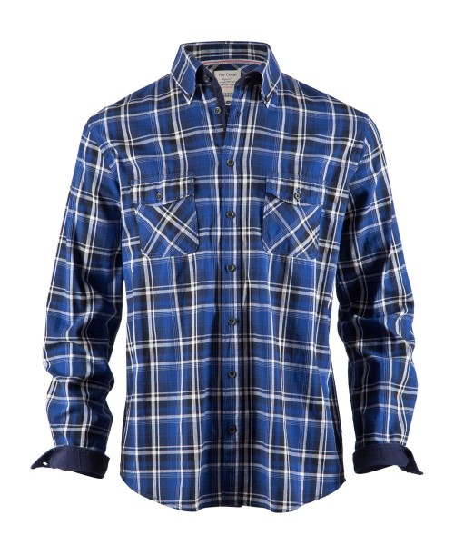 Brax Dalton Shirt Checked Blue