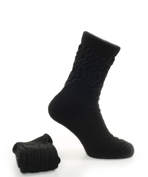 Alpaca Diabetic Socks Black
