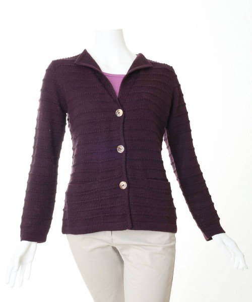 Alpaca Emily Cardigan Purple