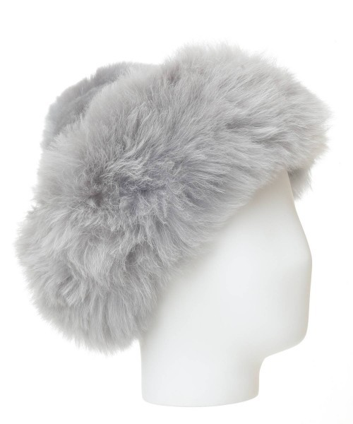 Baby Alpaca Fur Hat Light Grey