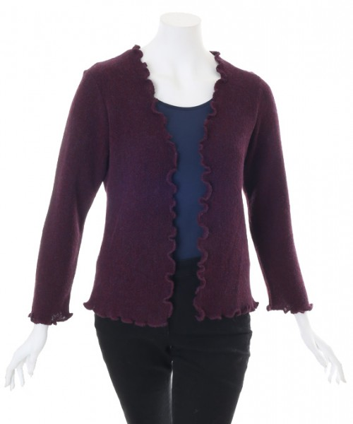 The Alpaca Collection Georgia Cardigan Aubergine