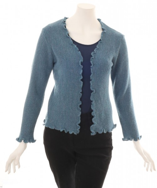The Alpaca Collection Georgia Cardigan Blue Grey