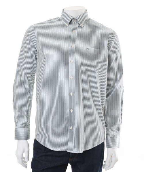 Brax Dries Green Stripe Shirt