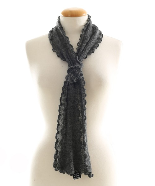 Alpaca Clothing Co Curly Edge Scarf Dark Grey