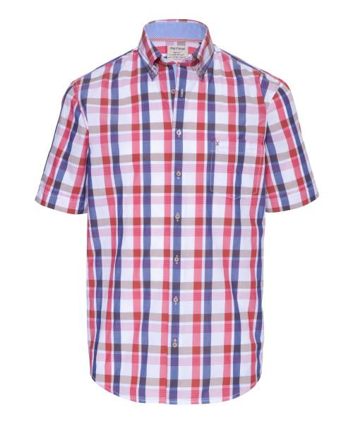 Brax Kim Short Sleeved Check Shirt Red