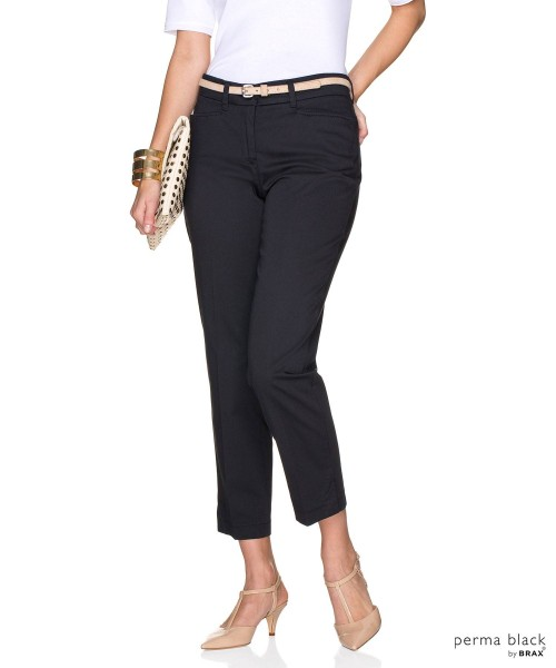 Brax Mara Summer Pima Cotton Trouser Black