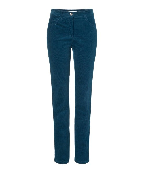 Brax Corduroy Trousers Mary Teal Blue