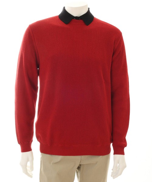Alpaca Sweater Crew Neck Red