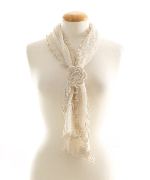 Alpaca Clothing Co Curly Edge Scarf Natural