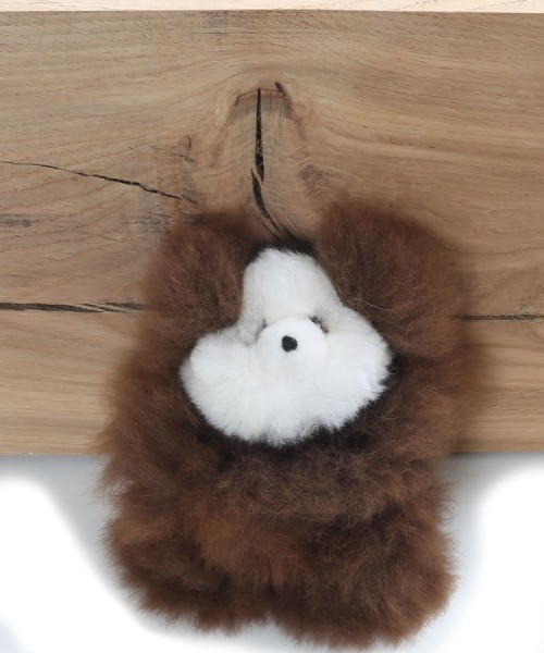 Alpaca Teddy Bear Brown Miniature
