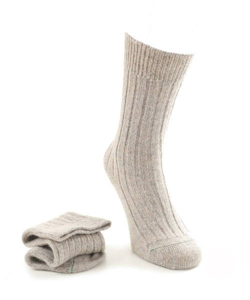 House of Cheviot Ladies Alpaca Socks Beige Mix