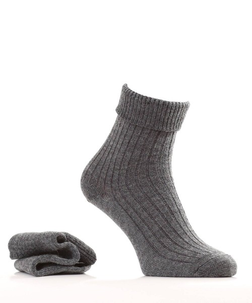 greay alpaca and wool socks