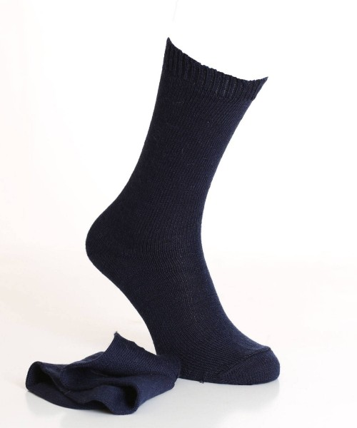 navy alpaca socks