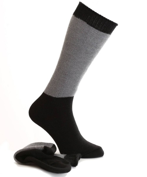 Alpaca Walking Socks Black/Grey