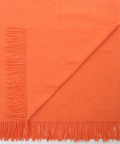 Alpaca Blanket / Throw Bright Orange