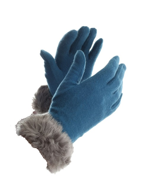 Powder Tallulah Gloves Wool Turquoise