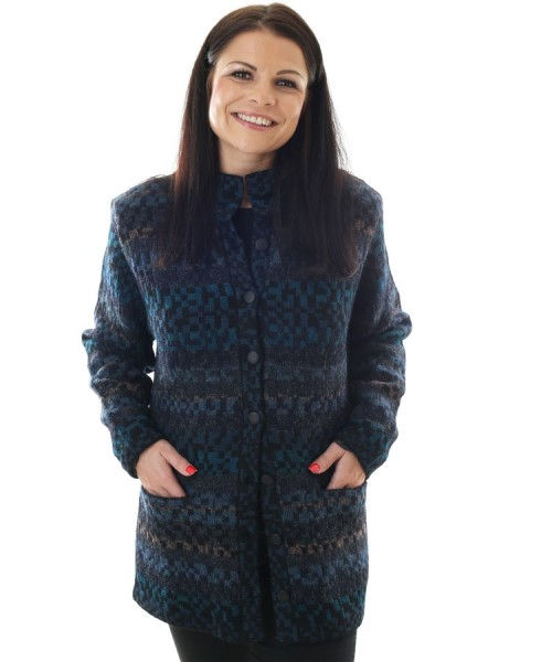 The Alpaca Collection Claudia Lined Jacket Blue