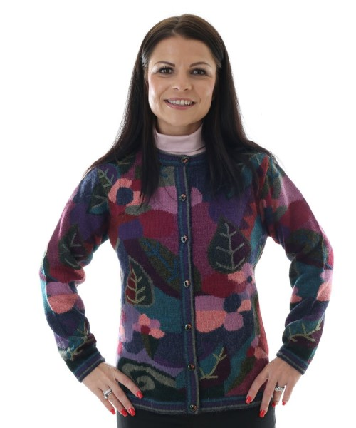 The Alpaca Collection April Floral Cardigan