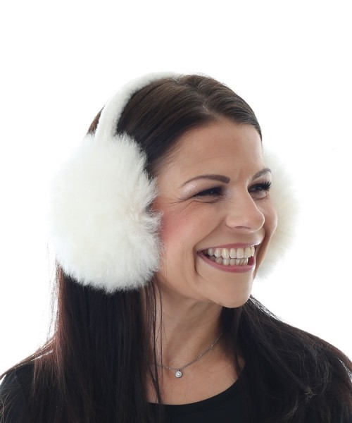 Alpaca Ear Muffs White