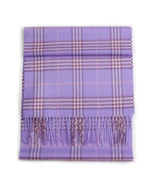 Baby Alpaca Scottish Woven Scarf Lilac