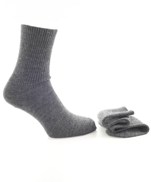 Alpaca & Wool Plain Socks Charcoal
