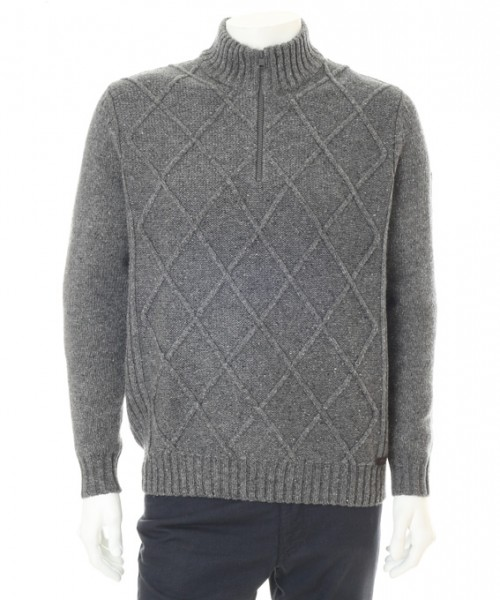 Brax Steffen Wool Sweater Grey