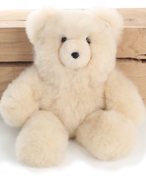 Alpaca Teddy Bear Champagne Large