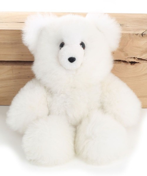 Alpaca Teddy Bear White Large