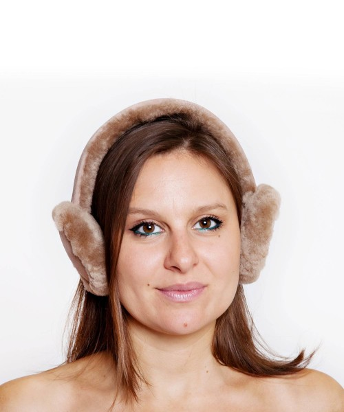 Tommy Tou Sheepskin Ear Muffs Mushroom