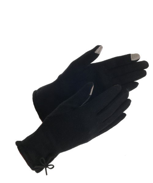 Wool Touchscreen Gloves Black