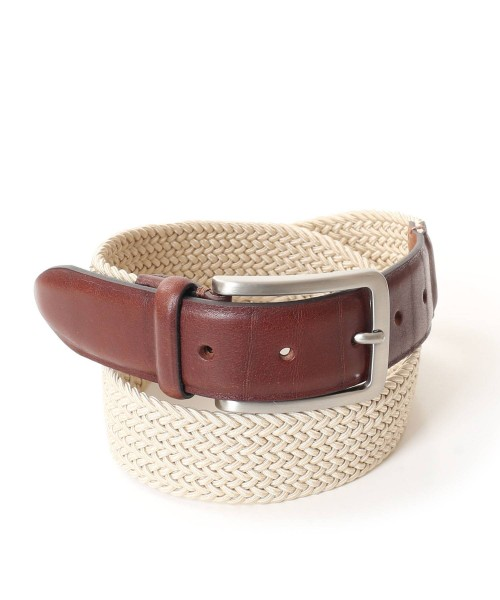 Charles Smith Webbed Belt Beige