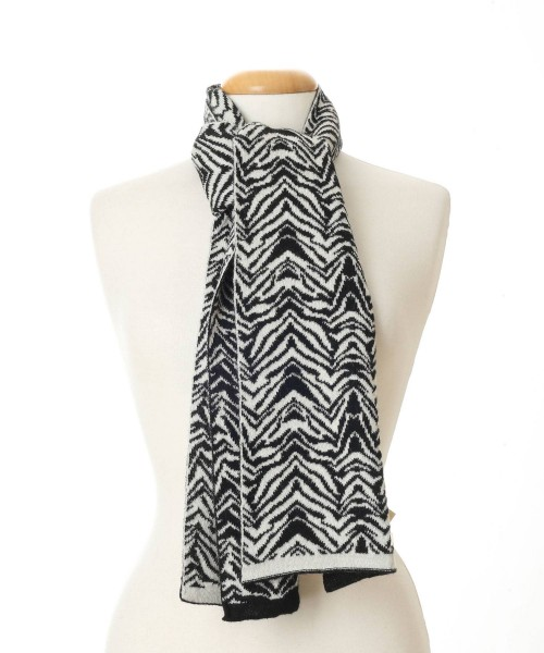 The Alpaca Collection Zebra print Scarf