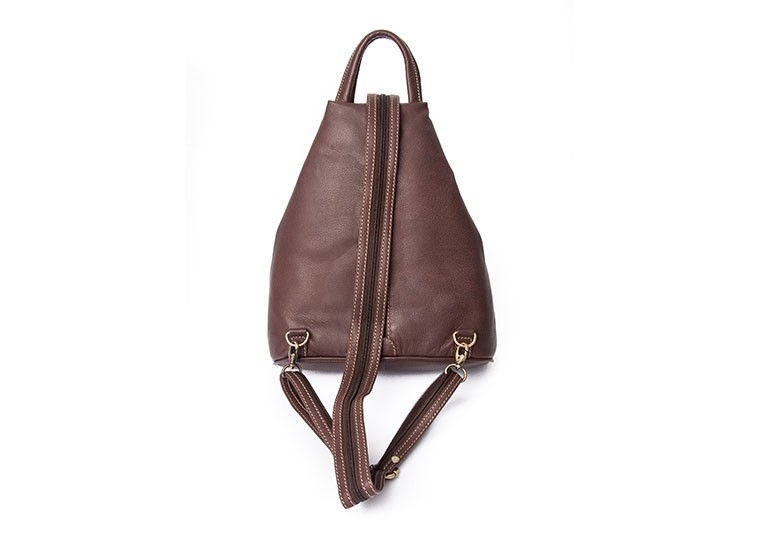 Nova Leather Backpack Brown Style - 982 in Nova Leather Handbags Range