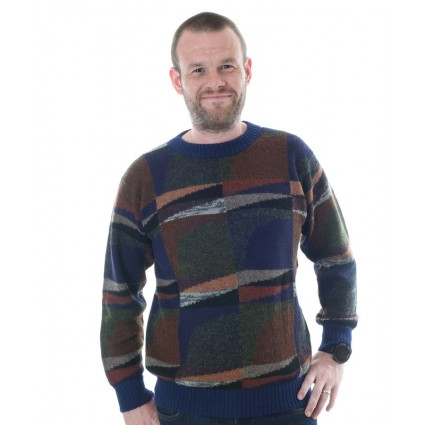 Alpaca Intarsia Jumper Abstract