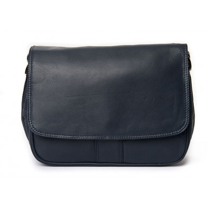 Nova 0720 Leather Shoulder Handbag Navy