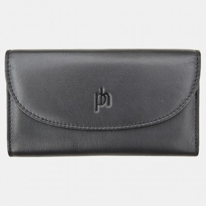 Primehide Leather Slimline Purse Black 22832