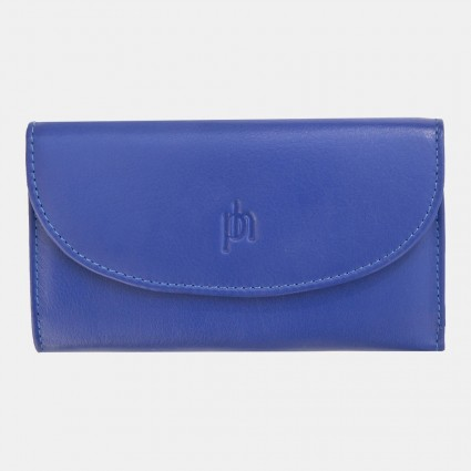 Primehide Leather Slimline Purse Blue 22832