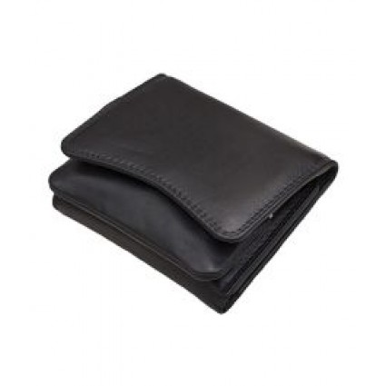 Primehide Leather Pouch Purse Black 2316
