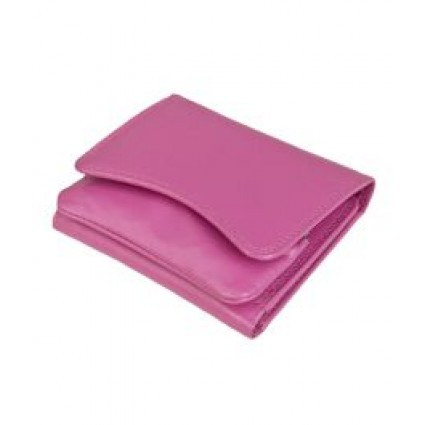 Primehide Leather Pouch Purse Cerise 2316