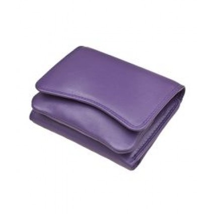 Primehide Leather Pouch Purse Purple 2316