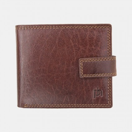 Primehide Leather RFID Tab Wallet Brown 4151
